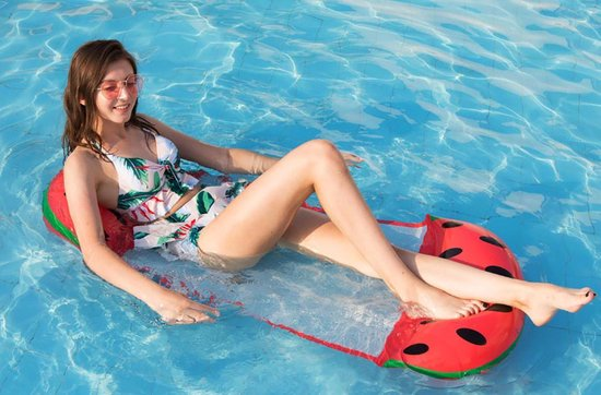 Opblaasbaar lounge luchtbed voor zwembad watermeloen patroon water hangmat