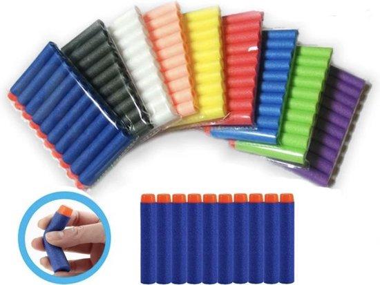 SPECIAL EDITION - 50 Pijltjes/Darts/Bullets geschikt voor Nerf Blasters - Speelgoedblaster pijltjes - Gekleurd
