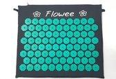 Flowee Spijkermat klein model – Grijs met zeegroen – Acupressuur mat – Acupressure mat