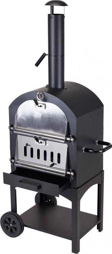 BBQ Pizzaoven in één – zwart staal