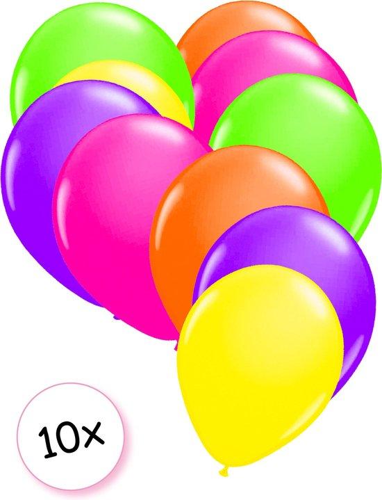 Ballonnen neon assorti (Ø25cm, 10st)