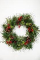 Viv! Home Luxuries Kerstkrans - groen rood - 60cm - topkwaliteit