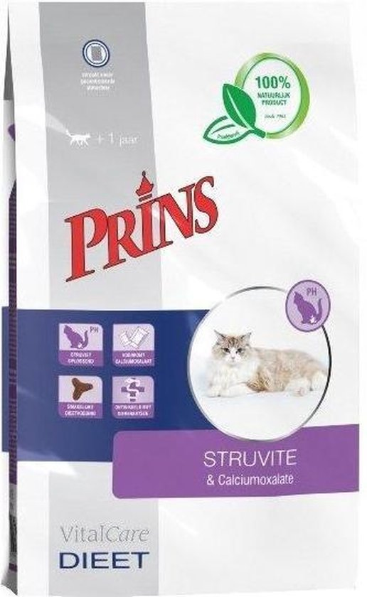 Prins VitalCare Kat Struvite & Calciumoxalate  - Kattenvoer - 1.5 kg