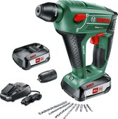 Bosch Uneo Maxx - Accuboorhamer - Inclusief 2x Power for All Li-Ion 18V 2,5 Ah Li-Ion accu's