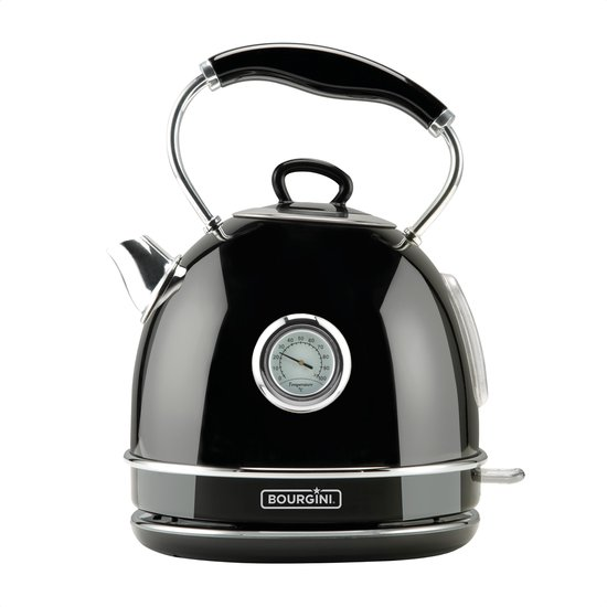 Bourgini Nostalgic Thermo Waterkoker - zwart - 1,7L - retro - 23.1009