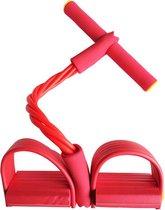 Elastische Buikspiertrainer - Unisex - Rood - Veel Verschillende Oefenmogelijkheden