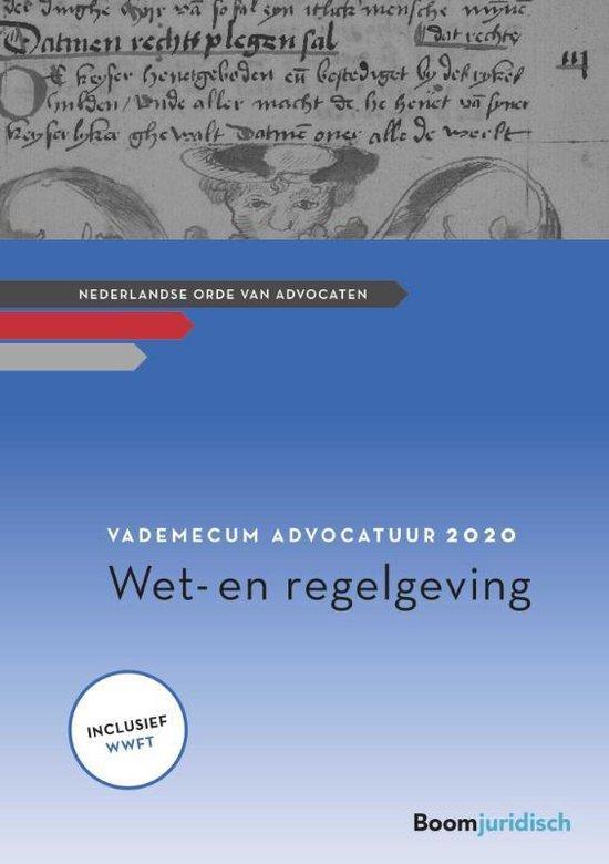 Afbeelding van Vademecum Advocatuur 2020