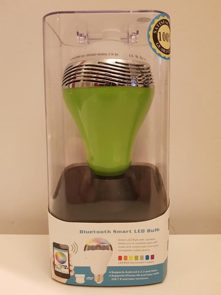Bluetooth Smart Led E27 Bulb Speaker - groen