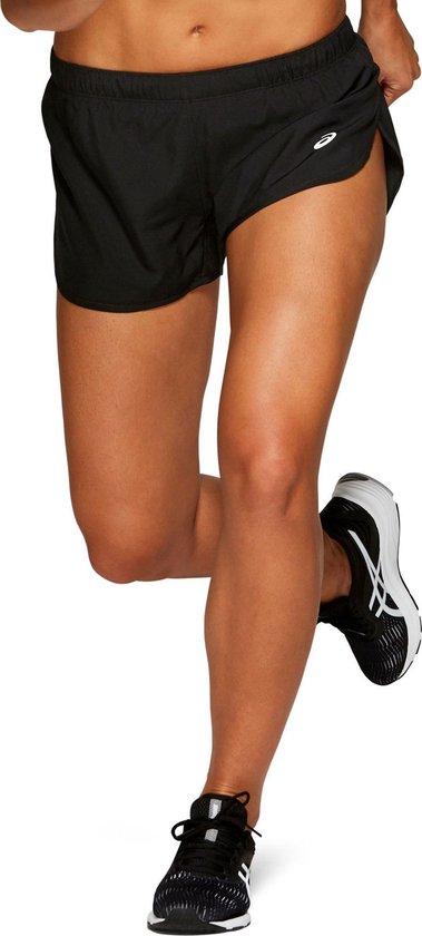 Asics Silver Split Short  Sportbroek - Maat L  - Vrouwen - zwart