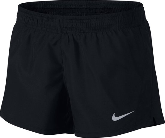 Nike 10K Short Sportbroek Dames - Black/Black/Black/Wolf Grey - Maat XL