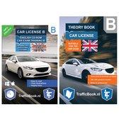 Theory Book Driving License B + CD Exam Training CBR - English