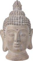 Boeddha hoofd L 75cm beige beeld - standbeeld - beeld voor in de tuin - tuindecoratie