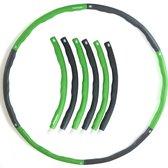 Tunturi Fitnesshoelahoep 1,5 kg - Groen met Grijs