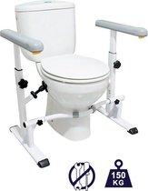 Toiletframe- Toiletbeugel Sta op Hulp - Toilet Frame voor Ouderen - Toiletkader Verstelbaar
