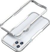 LUXWALLET®  Incisive Sword + Glas - Aluminium Bumper iPhone 11 Pro 5.8 inch - A6061 Aluminium Frame Case - Zilver