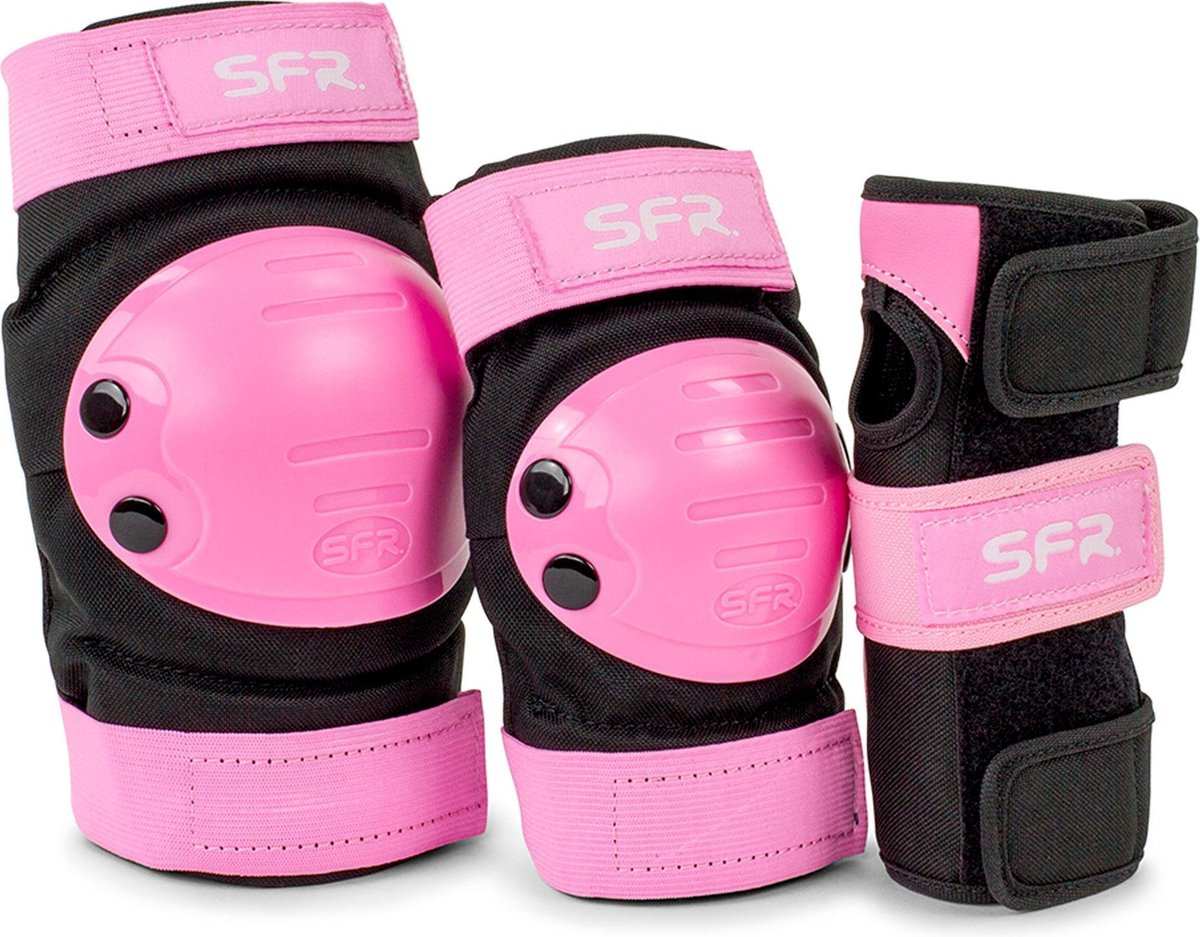 SFR Valbescherming setKinderen - roze - zwart L - JUNIOR