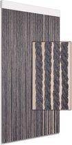 Vliegengordijn/deurgordijn Cotton Rope grijs 100x220