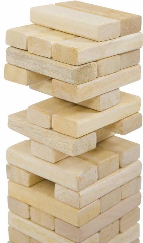Thumbnail van een extra afbeelding van het spel Stapeltoren spel, ECO Indiaas  hout, in stevige tas Top Kwaliteit Klasse en Geweldig