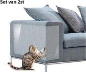 Bank beschermer tegen krabschade van katten en honden 45*30CM – anti krab nagels en bijt bescherming meubilair – voorkomt bijtschade en krabben aan meubels en interieur – transparant protector 2 stuks