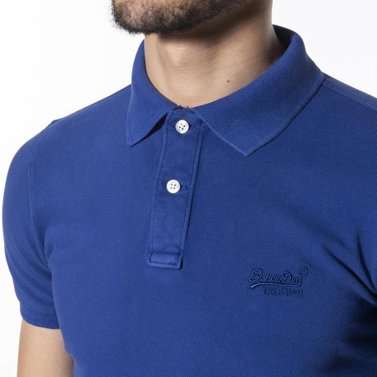 Superdry Heren Vintage Destroyed S/s Pique Polo 2xl