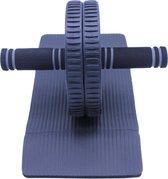 Ab Roller met knie matje | Core Trainer | Core Wheel | Inclusief Knie Mat | Buikspiertrainer met stevig wiel | Buikspier Wiel | Zwart