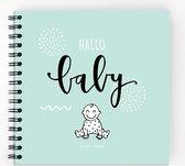 Hallo babyboek • Invulboek voor het eerste jaar van jouw baby (mint)