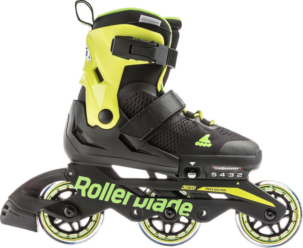 Rollerblade Inlineskates - Maat 28-32 - Unisex - zwart/ lime
