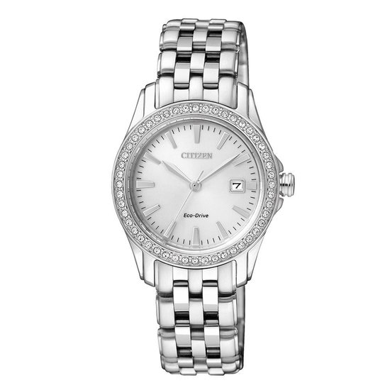 Citizen EW1901-58A Elegance – Horloge – Staal – Zilverkleurig – Ø 29 mm