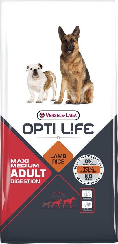 Opti Life Adult Digestion Medium & Maxi - 12,5 kg