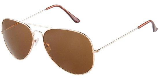 Zonnebril Aviator - Pilotenbril - UV400 Bescherming Cat. 3 - Glazen 60 mm - Zilverkleurig - Dielay