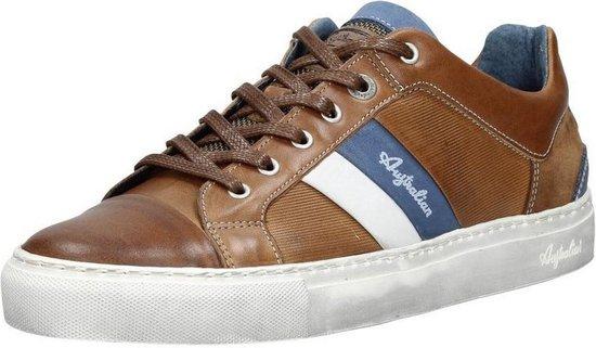 Australian Footwear Heren Sneakers Darryl Brown Leather - Bruin - maat 46