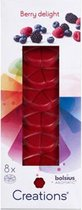 Bolsius geurchips Berry Delight - Rood - set van 48
