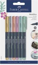 Faber Castell Metallic Makers - lijnbreedte 1,5mm  - assorti - per 5 verpakt