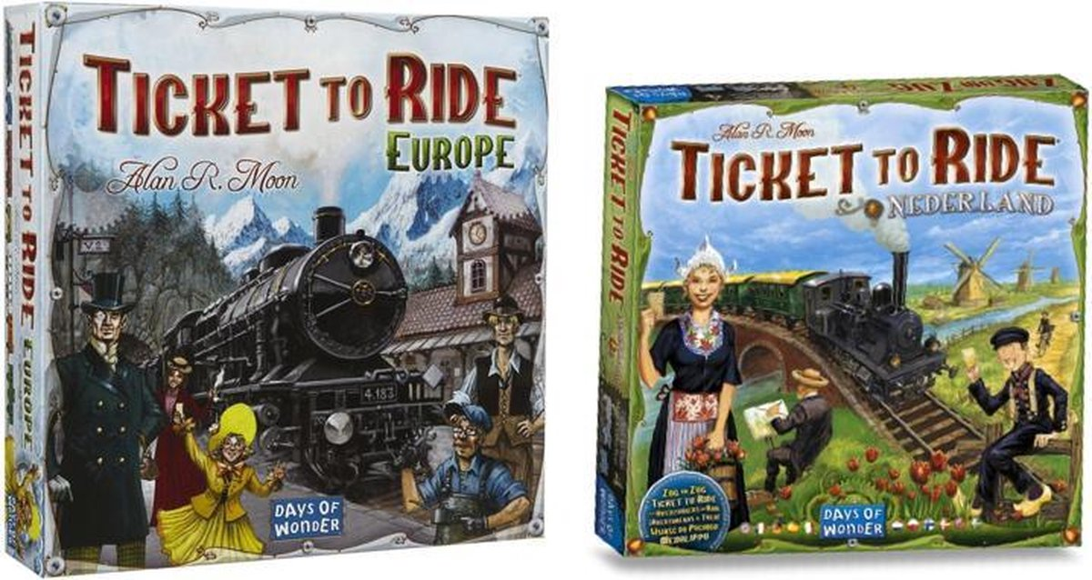 Ticket To Ride Spellenbundel inclusief Europa & Uitbreiding Nederland