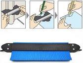 Aftekenhulp met lock - 25 cm - Profielmal - Contourmal - Laminaat, parket, tegels aftekenhulp - Meetinstrument - Nauwkeurige vormduplicatie - Blauw