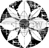 "Template 6x6"" 15x15cm flower grid"