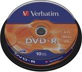 Verbatim 43523 DVD-R Matt Silver - 10 Stuks / Spindel
