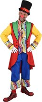 Clown & Nar Kostuum | Regenboog Golven Clown Circus Theater | Man | Large | Carnaval kostuum | Verkleedkleding