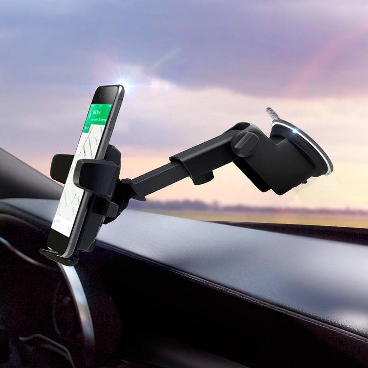 R2B Telefoonhouders auto met zuignap - Geschikt voor raam/dashboard - Gsm houder auto - Auto telefoo