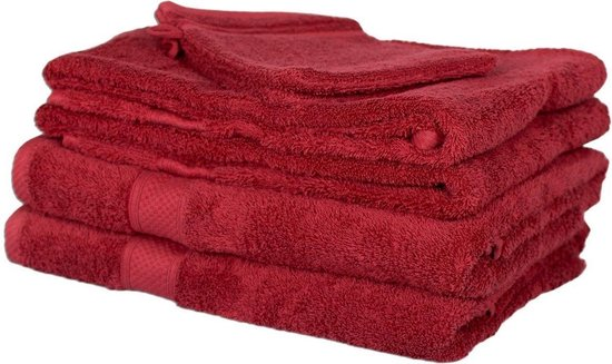 Milton & Oldbrook 6-delige Handdoekenset Kington Red