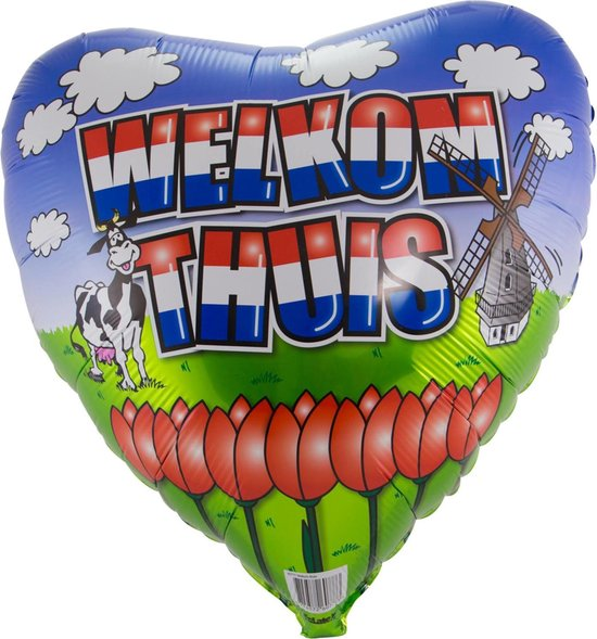 Welkom Thuis Ballon 45cm leeg