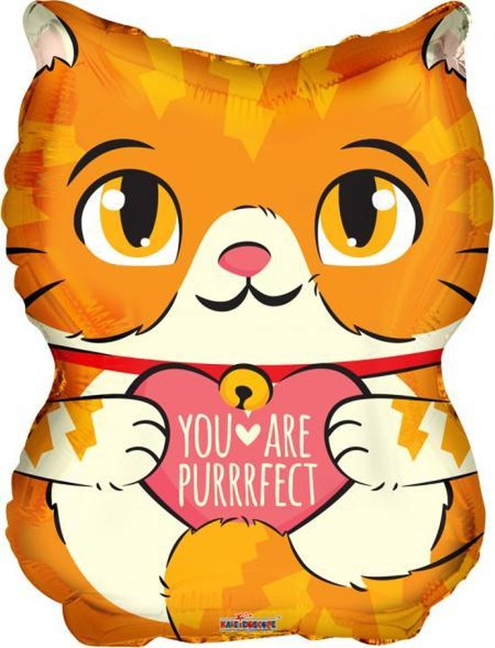 Helium Ballon Kat You Are Purrfect 45cm Leeg