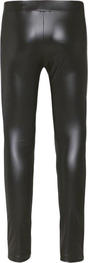 WE Fashion Meisjes imitatieleren legging - Maat 110/116
