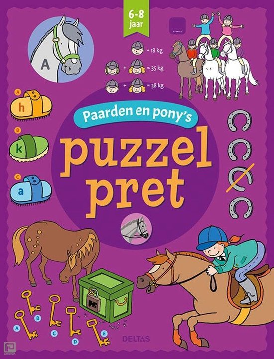 Puzzelpret 0 - Paarden en pony's 6-8 jaar - Annemie Bosmans |