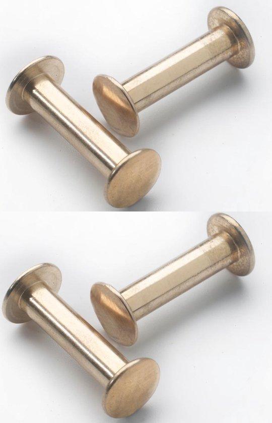 Leren handgrepen / Lus - 4 stuks - ZACHTROZE - maat S (15,8 x 2,5 cm) - incl. 3 kleuren schroefjes - Handles and more