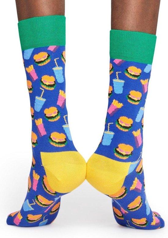 Happy Socks Hamburger Sokken - Multi - Maat 36-40 - Happy Socks