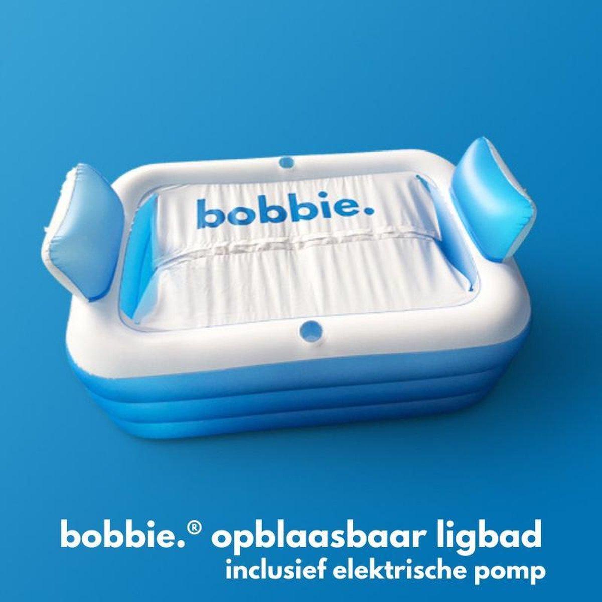 bobbie - Opblaasbaar bad voor thuis - met Gratis Elektrische Pomp - Opblaasbaar ligbad - Opblaasbad voor kinderen en volwassenen- Opblaas Zwembad - vrijstaand ovaal Ligbad met Afdekzeil