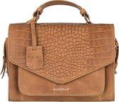 BURKELY Croco Cody Citybag Crossbodytas - Cognac