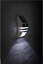 Solar Led Zonne-Energie | Wandlamp | Buitenverlichting | met bewegingssensor| Tuinverlichting | RVS