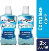 Aquafresh Complete Care fresh mint Mondwater - 2 x 500 ML
